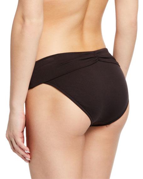 Ruched Fold-Over Bikini Bottoms