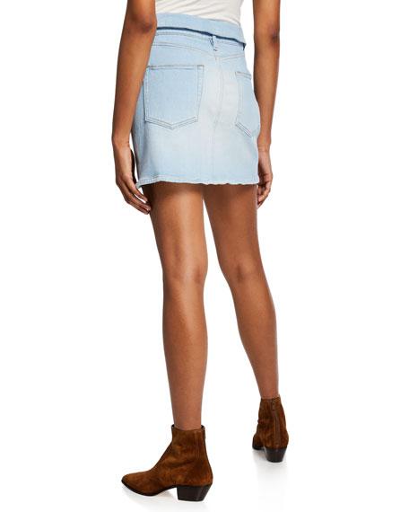 Le High Mini Fold-Over Denim Skirt