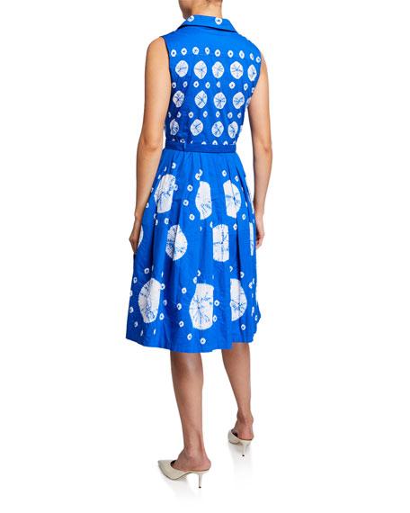 Claire Tie-Dye Sleeveless Shirtdress