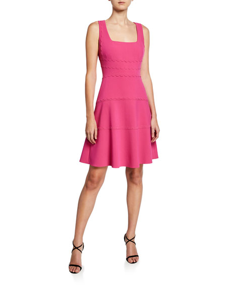 Michaela Sleeveless A-Line Crepe Dress