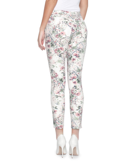 Ava Victorian Floral Skinny Jeans