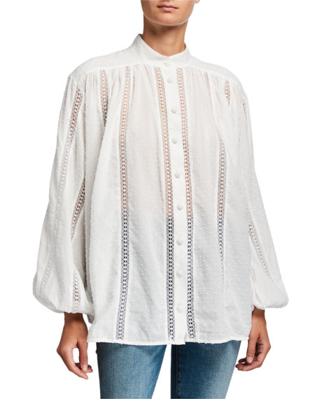 Surray Lace Inset Blouse by Zimmermann