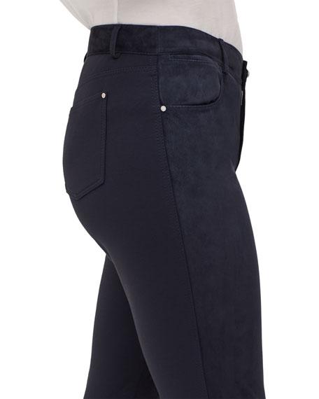 Mercer Skinny Suede & Ponte Pants