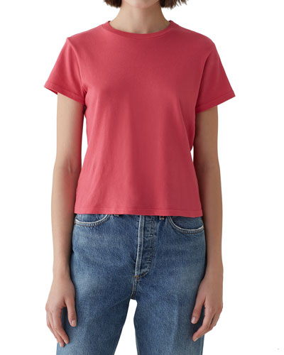 Short-Sleeve Cotton Cropped Baby Tee