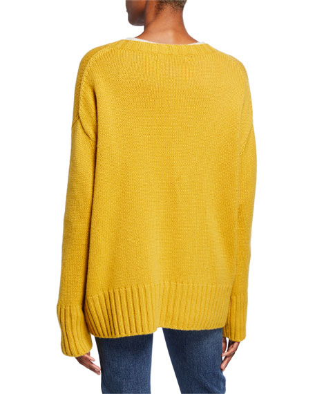 Cielo Long-Sleeve Baby Cashmere Sweater