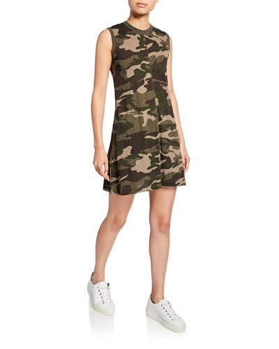 Camo Slub Jersey Tank Dress