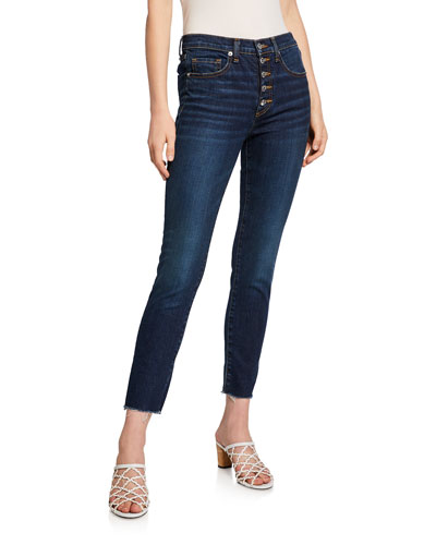 Debbie 10 Rise Skinny Jeans w/ Button Fly