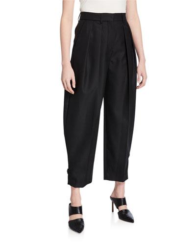 City Wool Pleated Pants