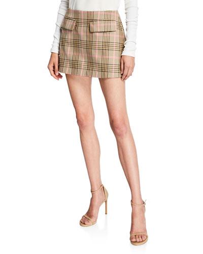 Short And Sweet Check Skirt