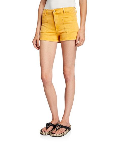 Le Bardot Denim Shorts