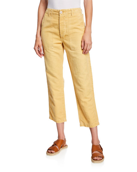 Army Cropped High-Rise Pants