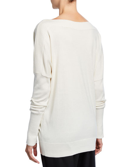 Angie Boat-Neck Sweater