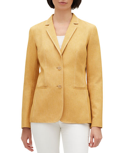 Briallen Brilliance Cloth Two-Button Blazer