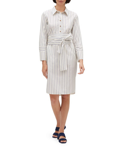 Fabiola Striped Shirtdress