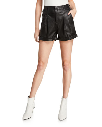 Leather Trouser Shorts