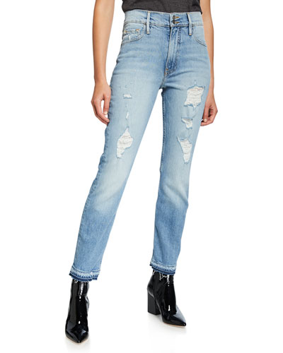 Heritage Sylvie Released Hem Jeans