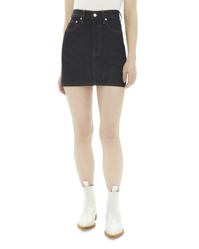Femme High-Rise Mini Denim Skirt