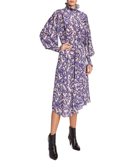 Yescott Printed High Neck Midi Dress by Etoile Isabel Marant
