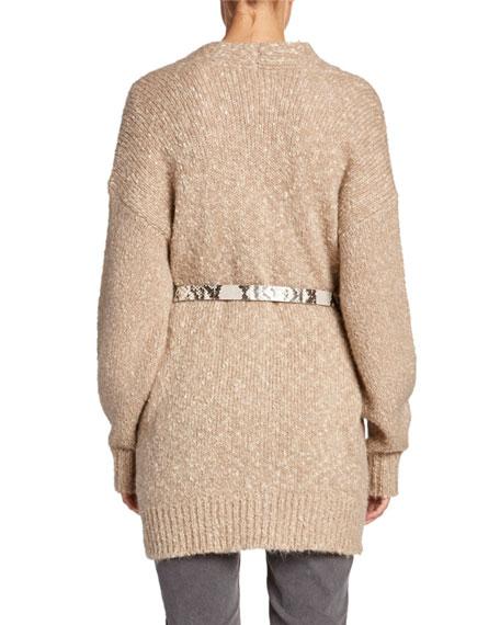 Scott Button-Front Oversized Sweater