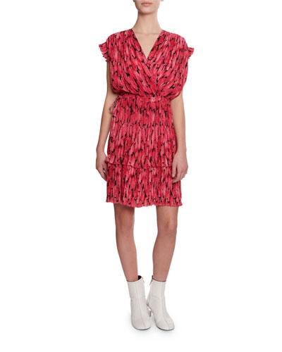 Printed Soft Flare Short Dress