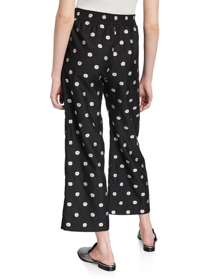 Debra Cropped Floral Pull-On Pants