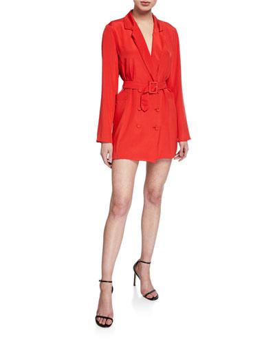 Belted Mini Blazer Dress
