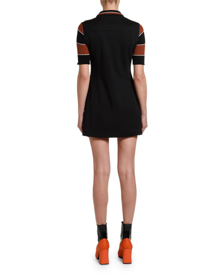 70s Zip-Front Mini Dress