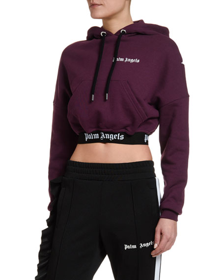 Cropped Logo Pullover Hoodie