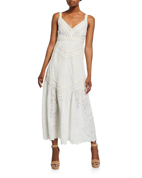 Agatha Lace Trim Tank Dress w/ Eyelet Hem