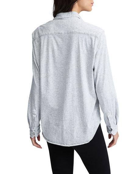 Essential Jersey Button-Down Cotton Shirt