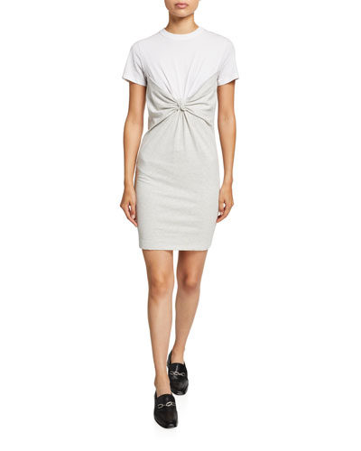 High Twist Jersey Knotted Dress
