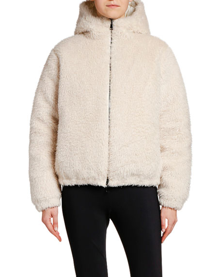 Image 1 of 1: Kolima Reversible Faux Fur Jacket w/ Hood