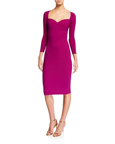 Sweetheart 3/4-Sleeve Dress