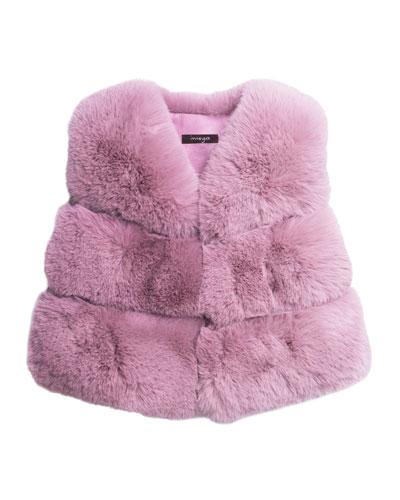 Kid's Faux-Fur Vest  Size 4-6