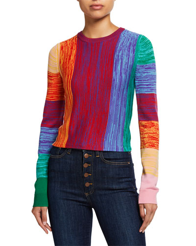 Connie Cropped Crewneck Sweater