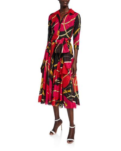 Aster Riding Harnesses Musola Midi Dress