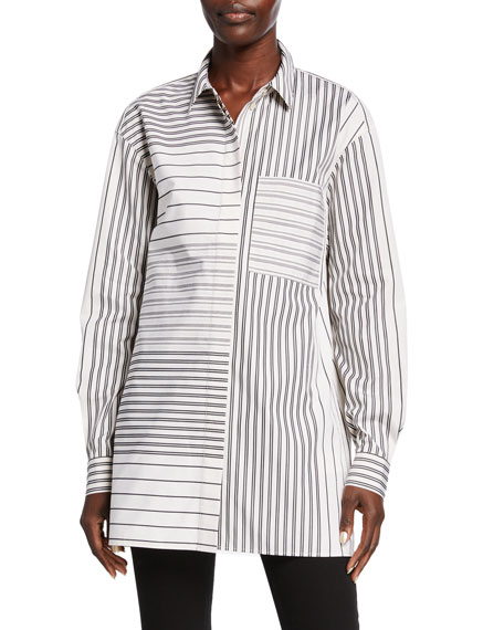 Maston Transcendent Stripe Cotton Blouse