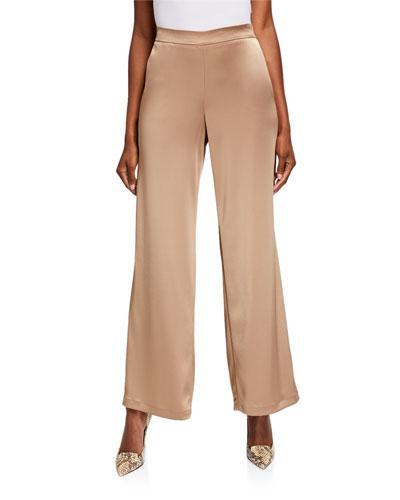 Riverside Reverie Satin Cloth Ankle Pants