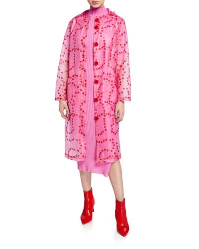 Jack Heart-Print Hooded Raincoat