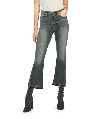 Holly High-Rise Cropped Flare Jeans