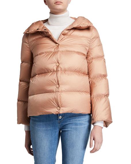 Aude Snap-Placket Puffer Coat