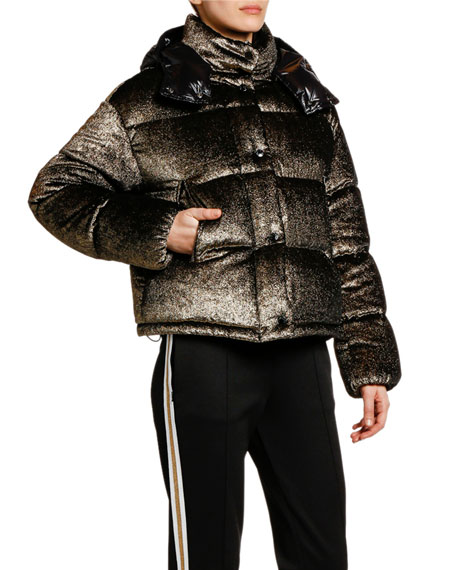 Image 1 of 1: Caille Puffer Jacket w/ Contrast Hood