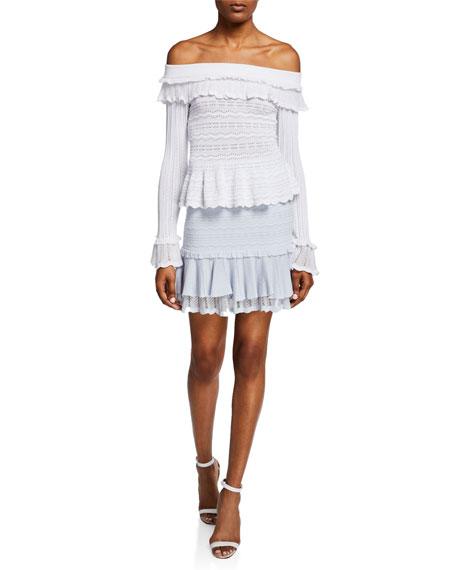 Lacey Tiered Ruffle Mini Skirt