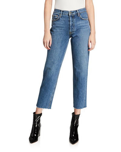 Helena Straight-Leg Cropped Jeans