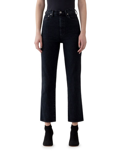 Pinch Waist High-Rise Straight Jeans
