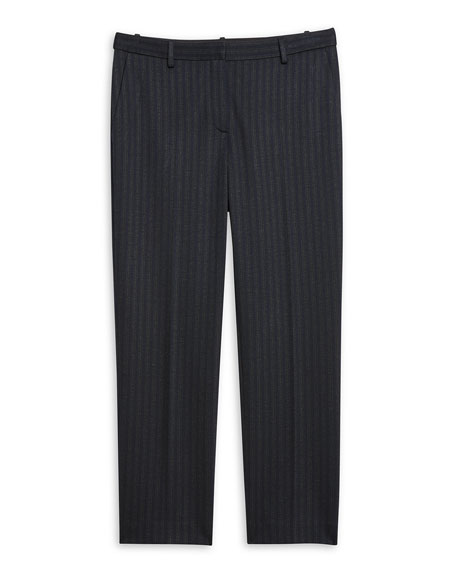 Striped Tailored Cropped Trousers