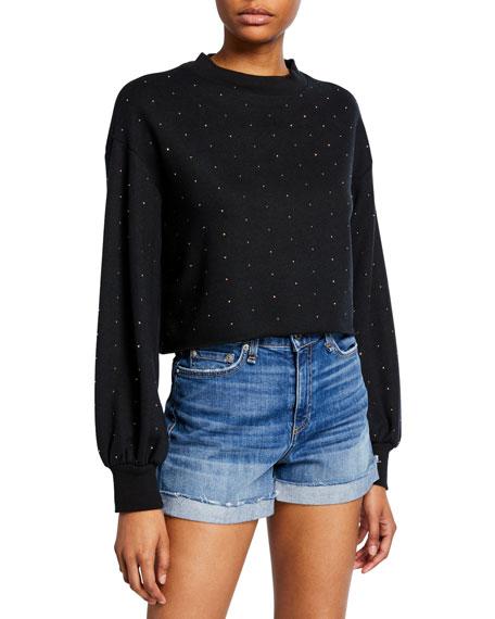 Ava Embellished Cropped Sweatshirt