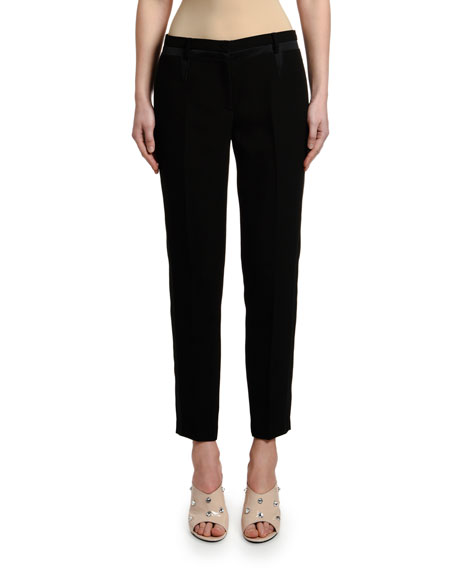 Image 1 of 1: Mid-Rise Straight-Leg Ankle Pants