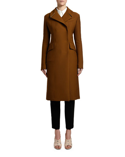 Donna Double-Breasted Zip-Back Coat