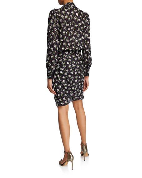 Cadence Floral High-Neck Dress